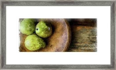 Three Pears Watercolor Mug Framed Print