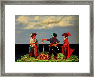 Three Pirates Framed Print by Robert Marquiss