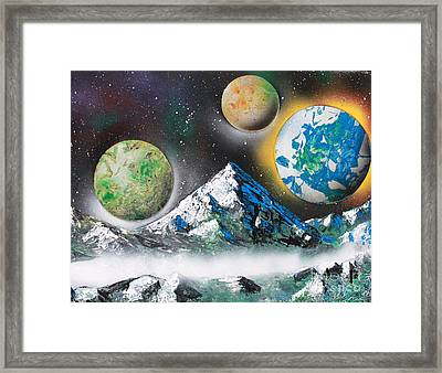 Three Planets Framed Print by Greg Moores