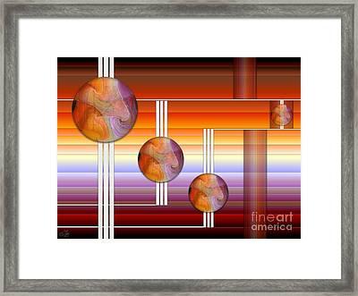 Three Plus 4 Framed Print by Sue Gardiner