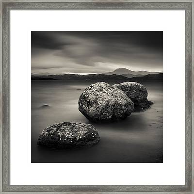 Three Rocks Framed Print by Dave Bowman