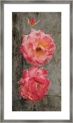 Framed Print featuring the digital art Three Roses by Dale Stillman