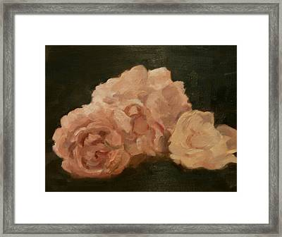 Three Roses Framed Print