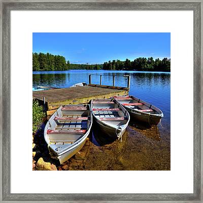Three Rowboats Framed Print by David Patterson