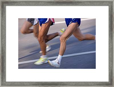 Three Runners Framed Print by Sami Sarkis