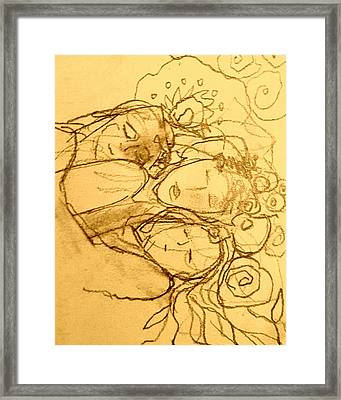 Three Framed Print by Sally Murphy