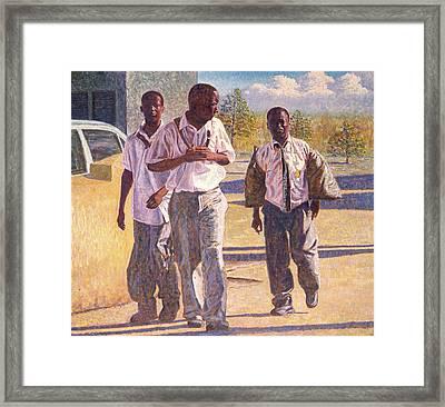 Three School Boys Framed Print