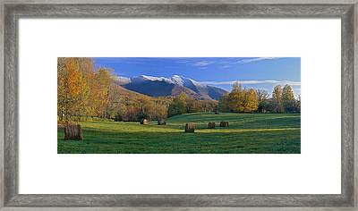 Three Seasons Mt. Mansfield Vermont Framed Print by George Robinson