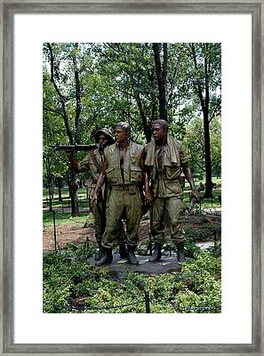 Three Servicemen Framed Print