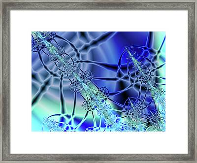 Three Shades Of Blue Framed Print