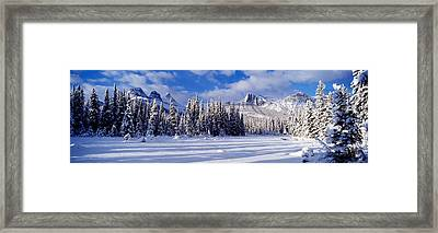 Three Sisters Bow Valley Kananaskis Framed Print by Panoramic Images