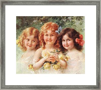 Three Sisters Framed Print by Emile Vernon