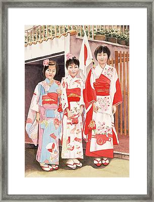 Three Sisters Framed Print by Judy Swerlick