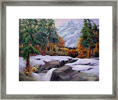 Three Sisters Near Banff Framed Print