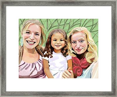 Three Sisters Framed Print by Plum Ovelgonne