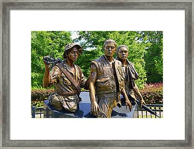 Three Soldiers Monument Framed Print