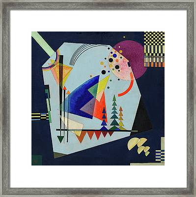 Three Sounds Framed Print by Wassily Kandinsky