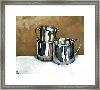 Three Sterling Cups Framed Print by Amy Higgins