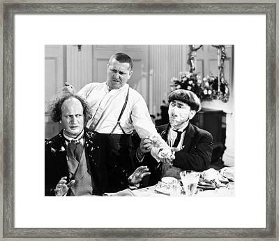 Three Stooges: Film Still Framed Print