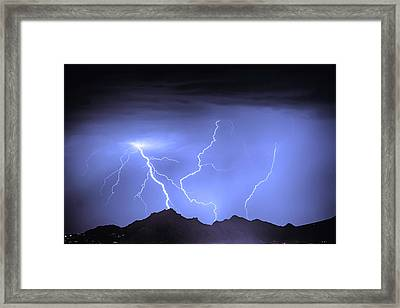 Three Strikes In The Night Framed Print
