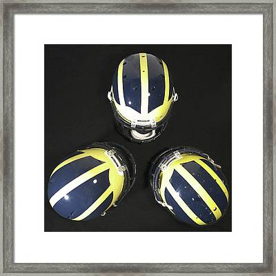 Three Striped Wolverine Helmets Framed Print