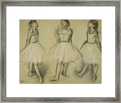Three Studies Of A Dancer In Fourth Position Framed Print