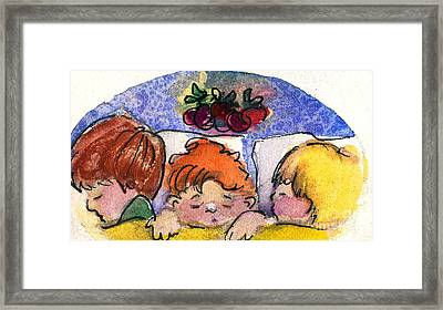 Three Sugar Plum Dreamers Framed Print by Mindy Newman