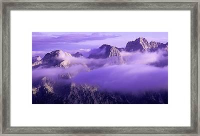 Three Summits. Julian Alps Framed Print by Konstantin Dikovsky