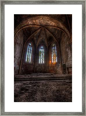 Three Tall Arches Framed Print