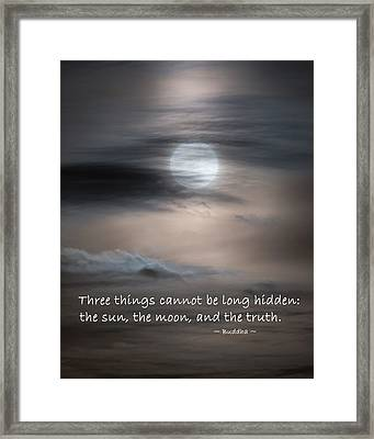 Three Things Framed Print by Bill Wakeley