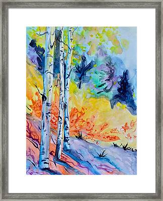 Three Trees Framed Print