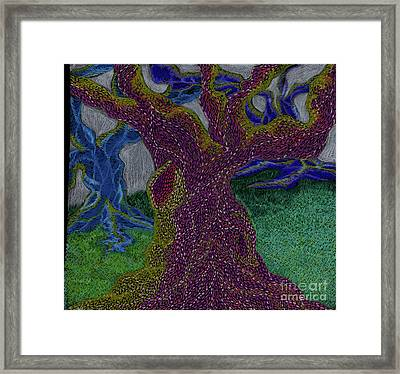 Framed Print featuring the drawing Three Trees by Kim Sy Ok