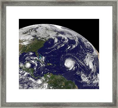 Three Tropical Cyclones Active Framed Print