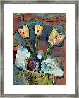Three Tulips Framed Print