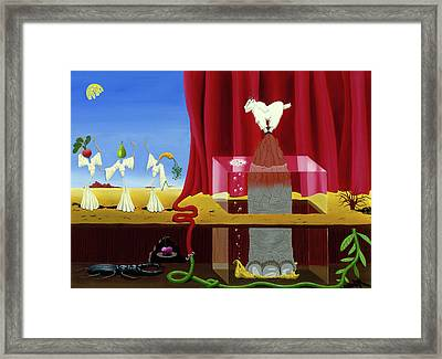 Three Twisted Dancers Framed Print