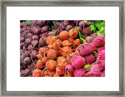 Three Types Of Beets Framed Print