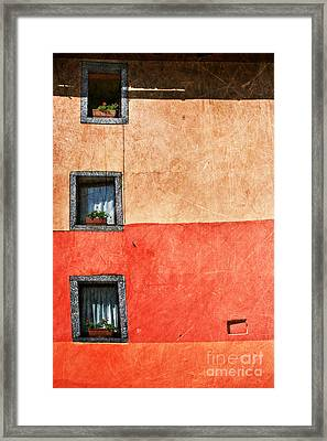 Three Vertical Windows Framed Print