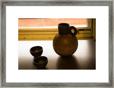 Three Vessels Framed Print by Terry Davis
