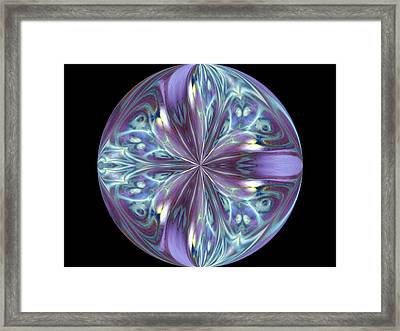 Three Violet Petals Framed Print by Yvette Pichette