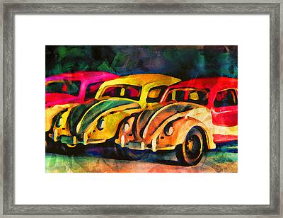 Three Volkswagens Framed Print by Jeff  Gettis