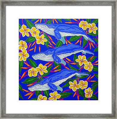 Three Whales  Framed Print