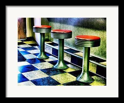 Old Diner Seating Framed Prints