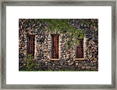Three Windows Framed Print by Tamyra Ayles