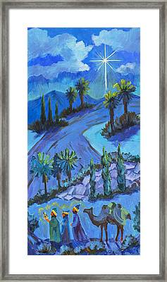 Three Wise Men And The Star Framed Print