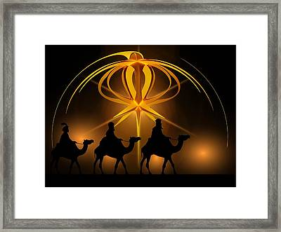 Three Wise Men Christmas Card Framed Print
