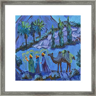 Three Wise Men Framed Print by Diane McClary