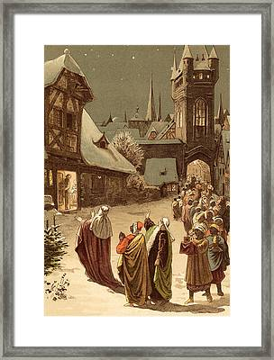Three Wise Men Framed Print by Victor Paul Mohn