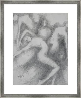 Three Women Framed Print
