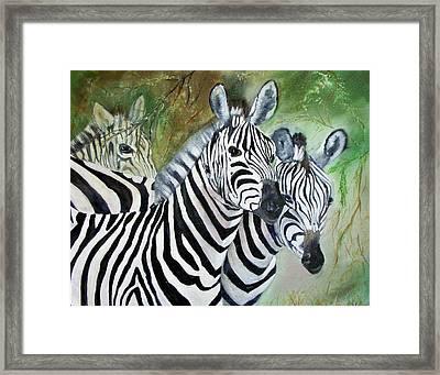 Three Z Puzzle Framed Print by Lynda McDonald