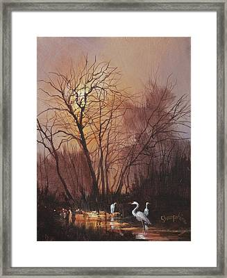 Threefold Framed Print